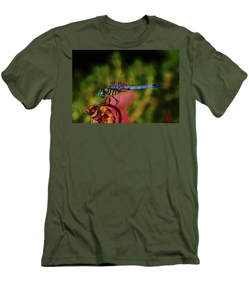 Men's T-Shirt (Slim Fit) featuring the photograph A Dragonfly 028 by George Bostian