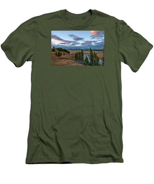 A Fall Evening In Hayden Valley Men's T-Shirt (Slim Fit) by Steve Stuller