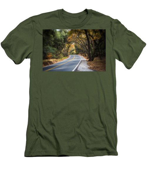 A Fall Roadway Men's T-Shirt (Athletic Fit)