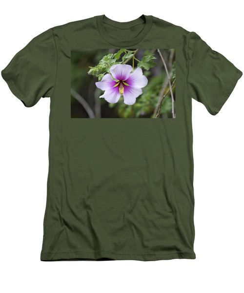 Men's T-Shirt (Slim Fit) featuring the photograph A Flower by Alex King