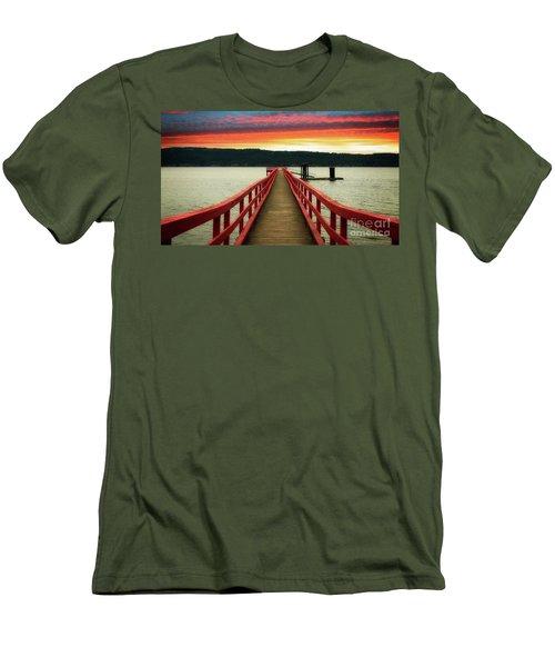 A Gentle Evening Men's T-Shirt (Slim Fit) by Rod Jellison