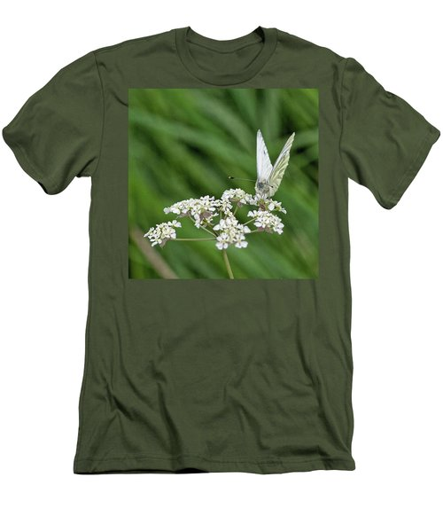 A Green-veined White (pieris Napi) Men's T-Shirt (Slim Fit)