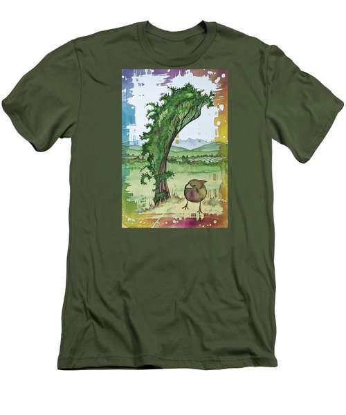 A Kale Leaf And A Little Bird Men's T-Shirt (Athletic Fit)