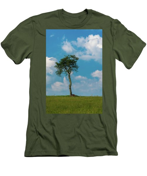 Men's T-Shirt (Athletic Fit) featuring the photograph A Lonely Tree On A Hill by Guy Whiteley