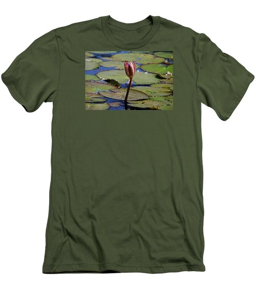 Men's T-Shirt (Slim Fit) featuring the photograph A Lonely Vigil by Michiale Schneider