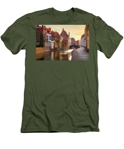 A Morning In Brugge Men's T-Shirt (Slim Fit) by JR Photography
