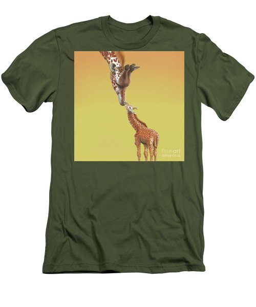 A Mother's Love Men's T-Shirt (Slim Fit) by Thomas J Herring