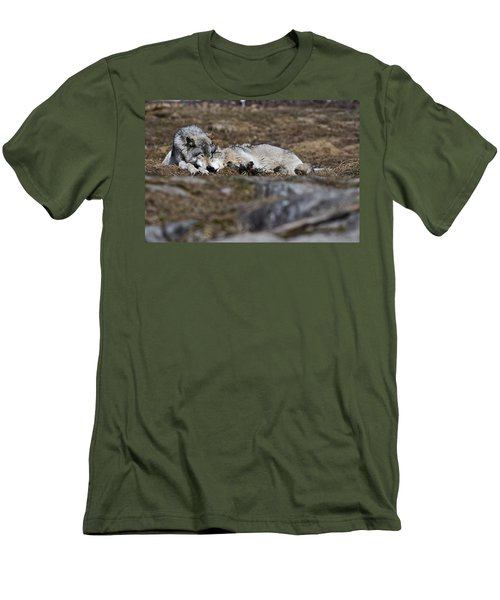 Men's T-Shirt (Slim Fit) featuring the photograph A Much Needed Rest by Michael Cummings