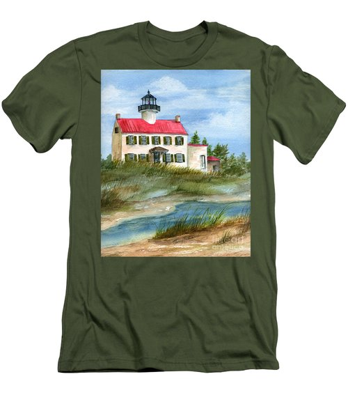 A Nice Day At The Point  Men's T-Shirt (Slim Fit) by Nancy Patterson