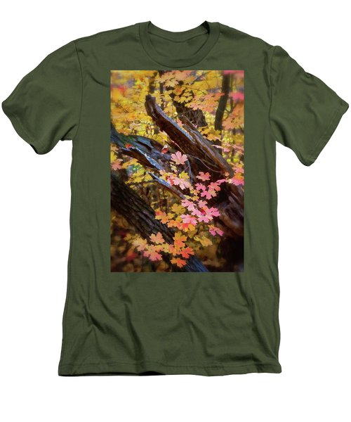Men's T-Shirt (Athletic Fit) featuring the photograph A Pastel Fall  by Saija Lehtonen