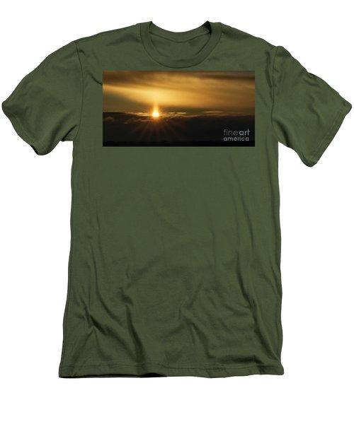 A Pillar Of Golden Light Men's T-Shirt (Slim Fit) by Brad Allen Fine Art
