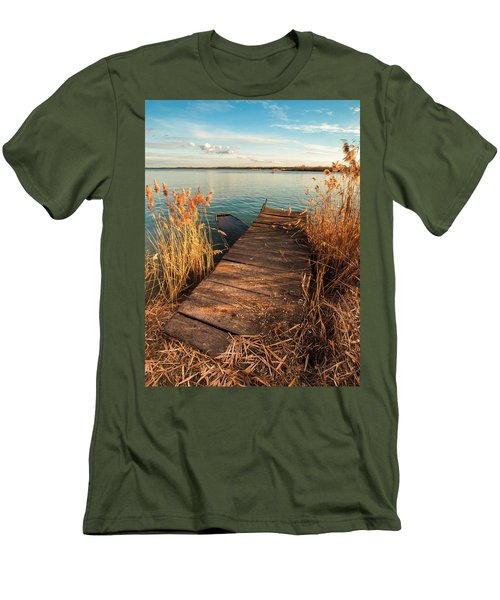 A Place Where Lovers Meet Men's T-Shirt (Slim Fit) by Davorin Mance