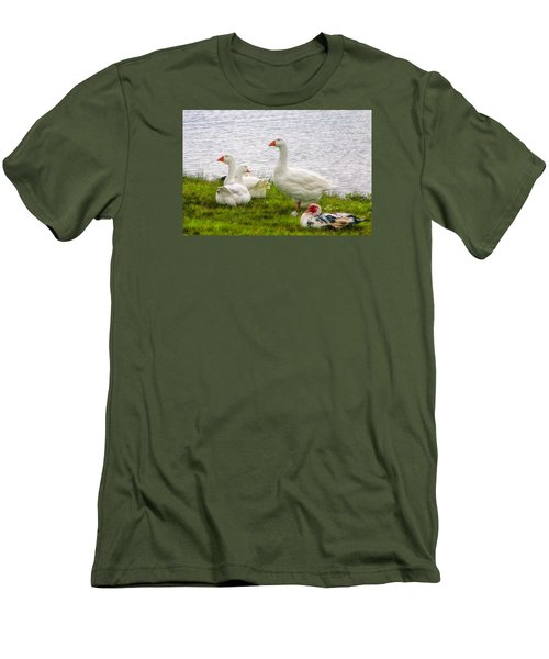 Men's T-Shirt (Slim Fit) featuring the photograph A Quiet Moment by Joan Bertucci
