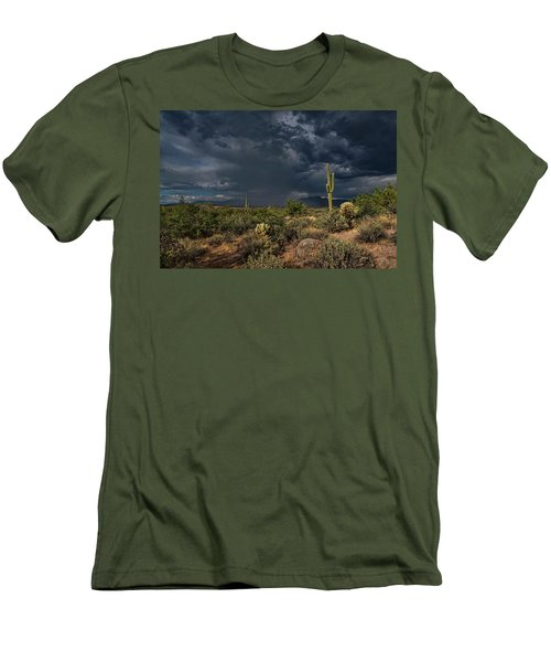 Men's T-Shirt (Athletic Fit) featuring the photograph A Rainy Afternoon  by Saija Lehtonen