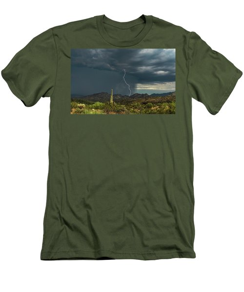 Men's T-Shirt (Athletic Fit) featuring the photograph A Rainy Sonoran Day  by Saija Lehtonen