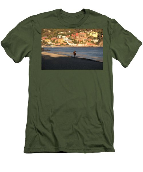 A Ride On The Beach Men's T-Shirt (Slim Fit) by Jim Walls PhotoArtist