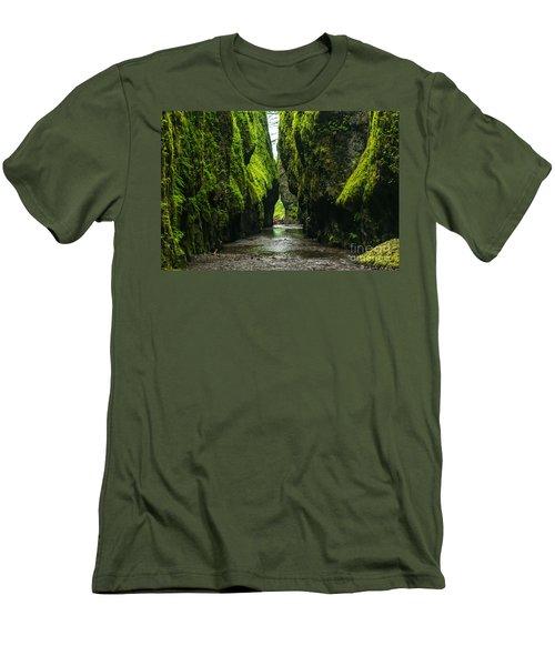 A River Runs Through It Men's T-Shirt (Slim Fit) by Rod Jellison