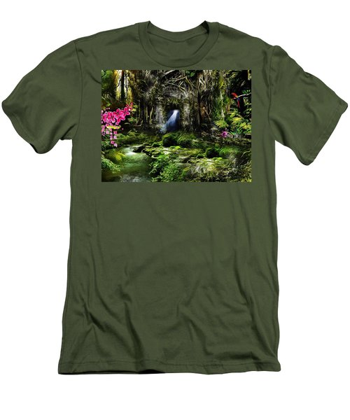 A Secret Place Men's T-Shirt (Slim Fit) by Gabriella Weninger - David