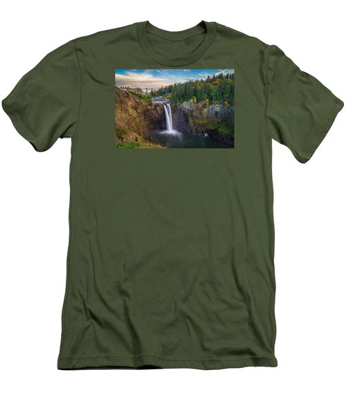 A Snoqualmie Falls  Autumn Men's T-Shirt (Athletic Fit)