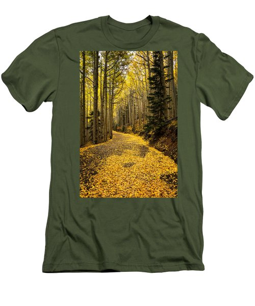 A Stroll Among The Golden Aspens  Men's T-Shirt (Athletic Fit)