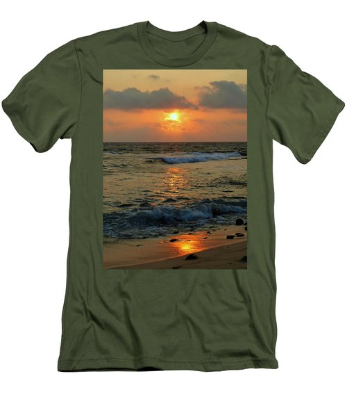Men's T-Shirt (Slim Fit) featuring the photograph A Sunset To Remember by Lori Seaman