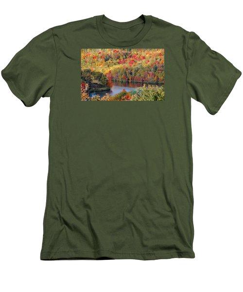 A Tennessee Autumn Men's T-Shirt (Slim Fit) by Debbie Karnes