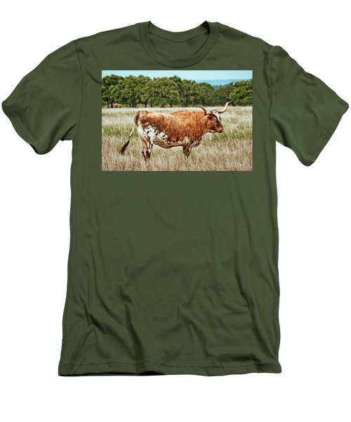 Men's T-Shirt (Slim Fit) featuring the photograph A Texas Legend by Linda Unger