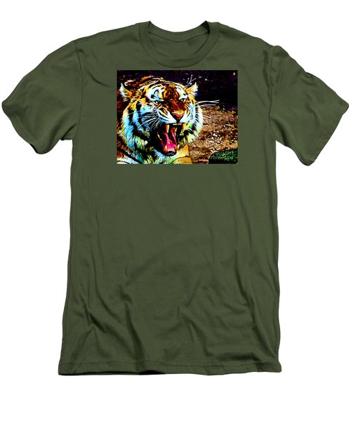 A Tiger's Roar Men's T-Shirt (Slim Fit) by Zedi