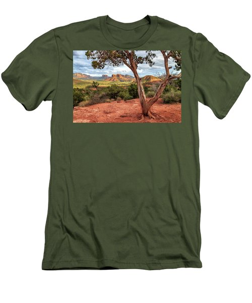 A Tree In Sedona Men's T-Shirt (Slim Fit) by James Eddy
