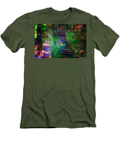 Men's T-Shirt (Slim Fit) featuring the photograph A Trek by Iowan Stone-Flowers