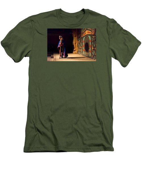 Men's T-Shirt (Slim Fit) featuring the photograph A Tribal Elder by Lewis Mann