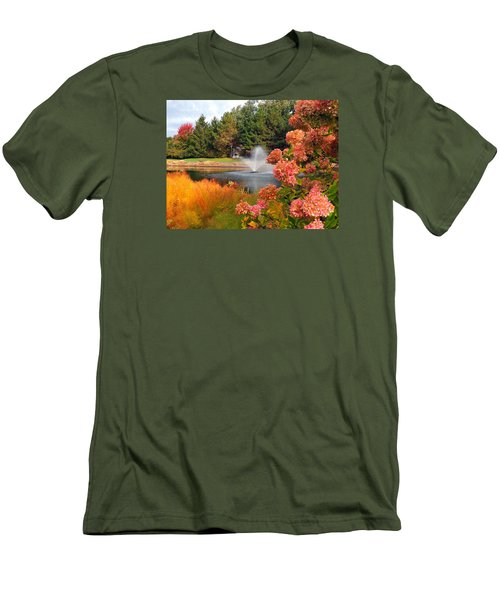 Men's T-Shirt (Slim Fit) featuring the photograph A Vision Of Autumn by Teresa Schomig