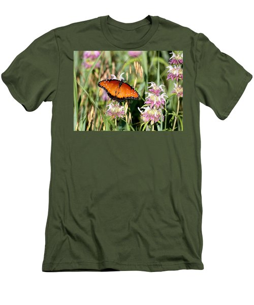 Men's T-Shirt (Athletic Fit) featuring the photograph A Visit From The Queen by Sheila Brown
