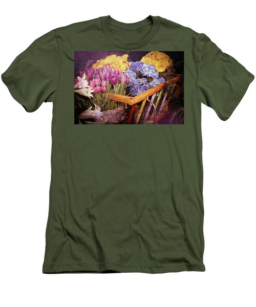 A Wagon Full Of Spring Men's T-Shirt (Slim Fit) by Patrice Zinck