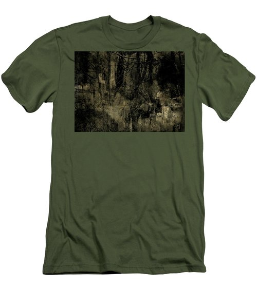 A Walk In The Park Men's T-Shirt (Slim Fit) by Jim Vance