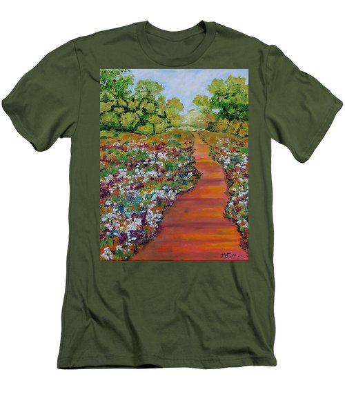 A Walk In The Park Men's T-Shirt (Slim Fit) by Mike Caitham