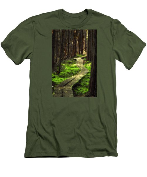 Men's T-Shirt (Slim Fit) featuring the photograph A Walk Through The Bog by Robert Clifford