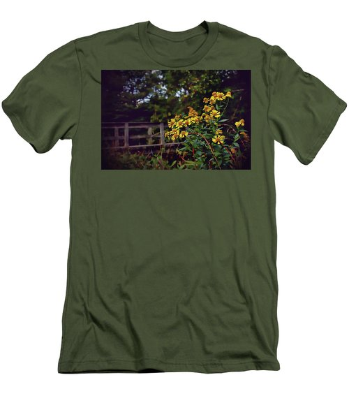 Men's T-Shirt (Slim Fit) featuring the photograph A Walk With Wildflowers by Jessica Brawley