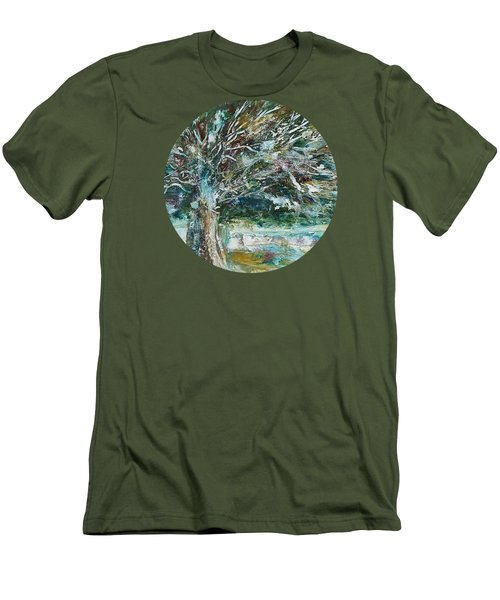 A Winter Tree Men's T-Shirt (Slim Fit) by Mary Wolf