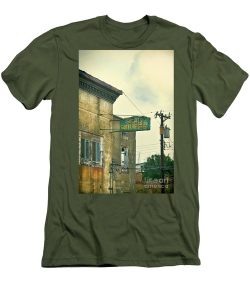 Men's T-Shirt (Slim Fit) featuring the photograph Abandoned Building by Jill Battaglia