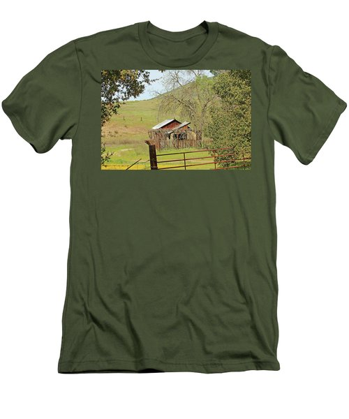 Men's T-Shirt (Slim Fit) featuring the photograph Abandoned Homestead by Art Block Collections