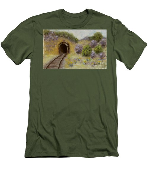 Abandoned Mine Men's T-Shirt (Slim Fit) by Laurie Morgan