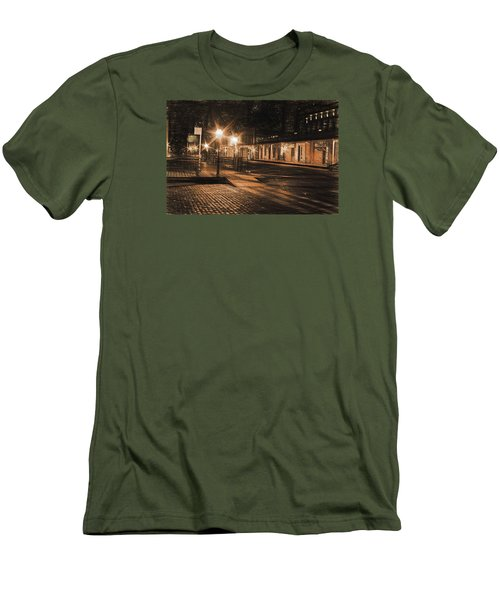 Abandoned Street Men's T-Shirt (Slim Fit) by Michael Cleere