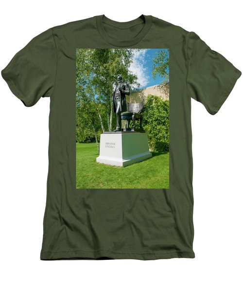 Abe Hanging Out Men's T-Shirt (Slim Fit) by Greg Fortier