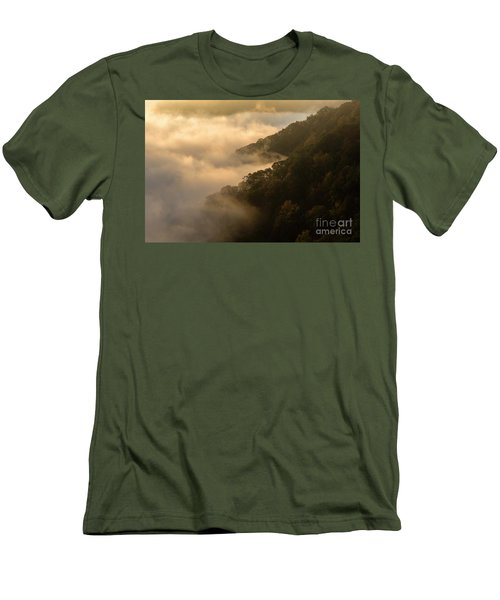 Men's T-Shirt (Slim Fit) featuring the photograph Above The Mist - D009960 by Daniel Dempster