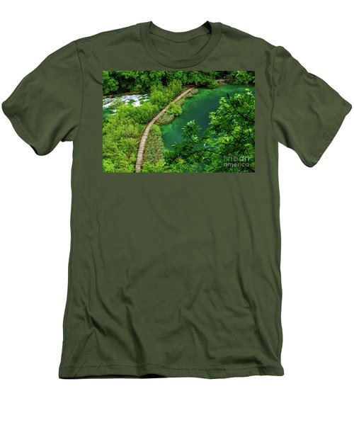 Above The Paths At Plitvice Lakes National Park, Croatia Men's T-Shirt (Athletic Fit)