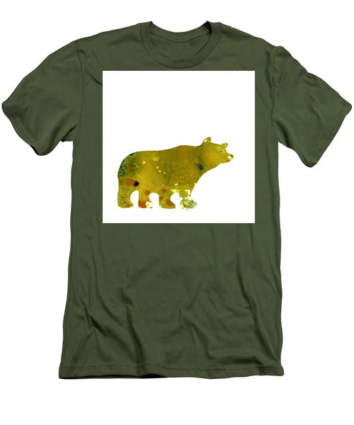 Abstract Acrylic Painting Bear II Men's T-Shirt (Slim Fit) by Saribelle Rodriguez