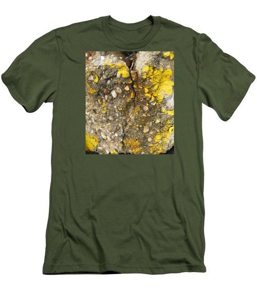 Abstract Art Seen In Parking Lot Men's T-Shirt (Slim Fit) by Sandra Church