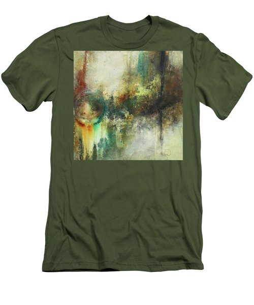 Abstract Art With Blue Green And Warm Tones Men's T-Shirt (Athletic Fit)