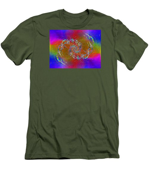 Men's T-Shirt (Slim Fit) featuring the digital art Abstract Cubed 351 by Tim Allen